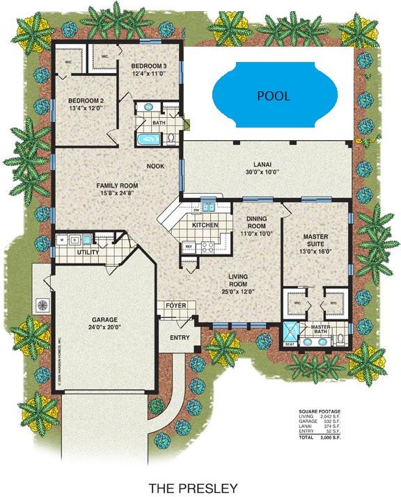 Grundriss villa mit pool  Grundriss